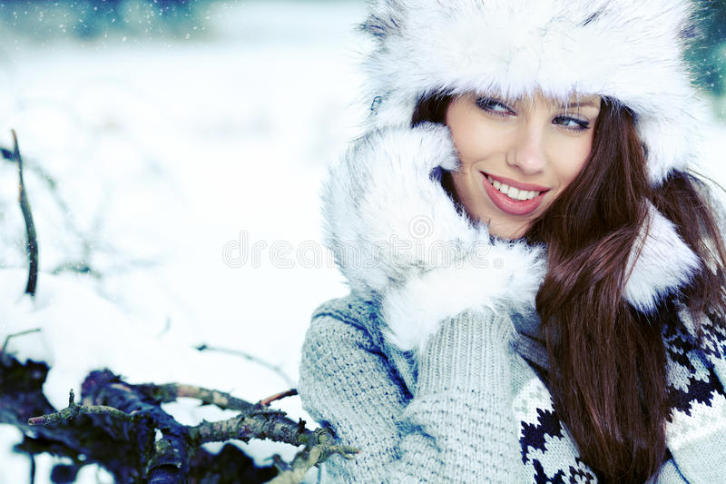 Download Woman In The Winter Scenery Stock Image - Image: 28187039