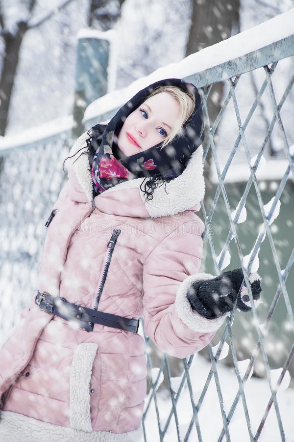 Download Woman In Winter Stock Photo - Image: 36937880