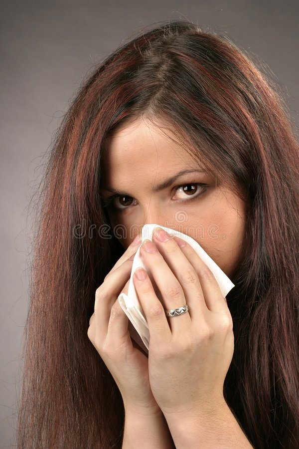 Download Woman wiping her nose stock photo. Image of cold, teenager - 1291064