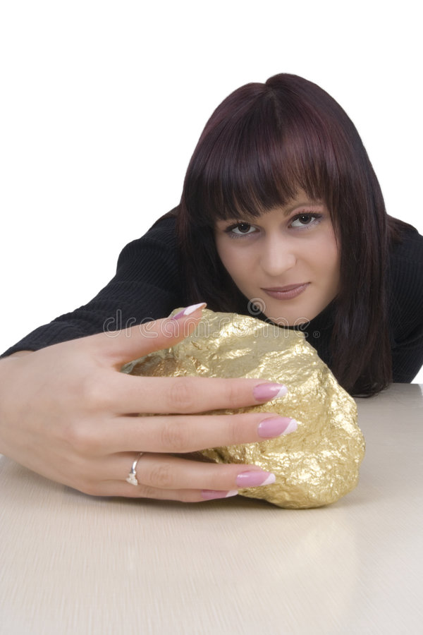 Free Woman With A Gold Nugget Stock Photos - 5010453