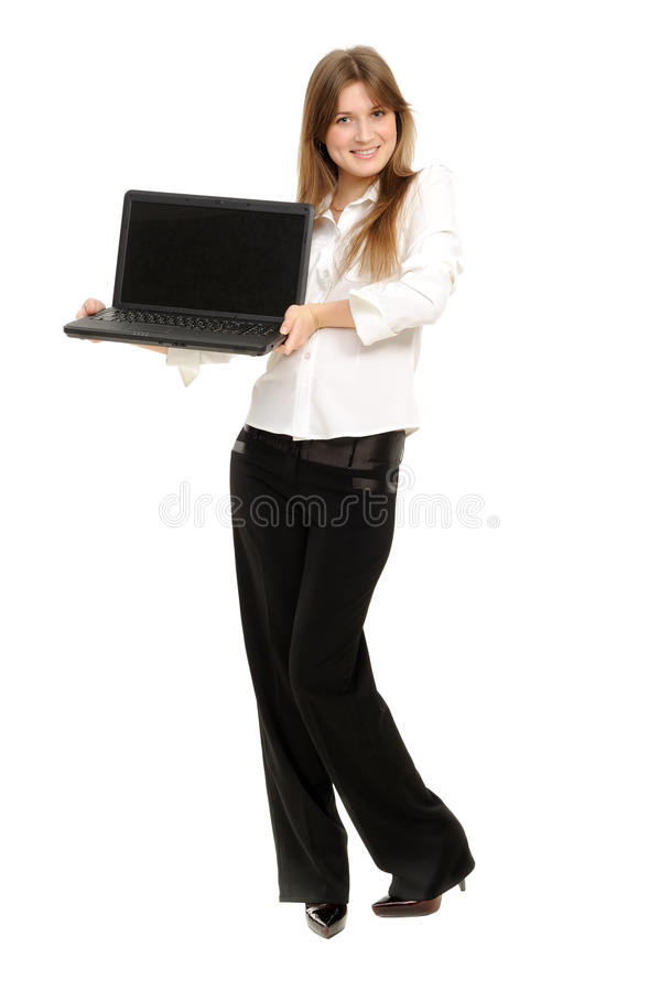 Free Woman With A Laptop Royalty Free Stock Photo - 18947735