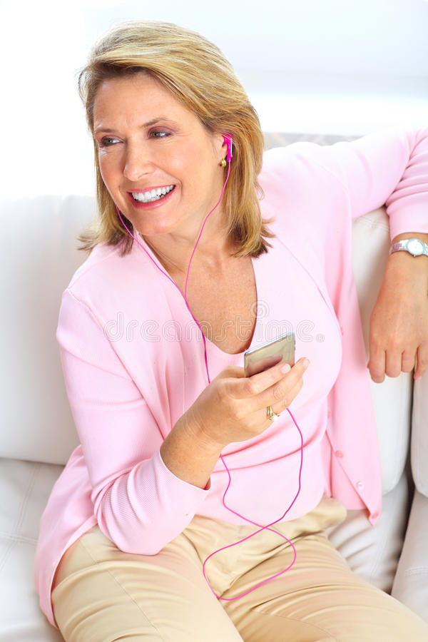 Free Woman With A Mp3 Player Stock Images - 15113934