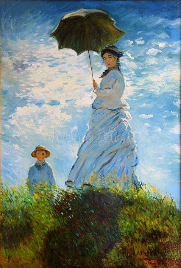 Free Woman With A Parasol-Madame Monet Stock Images - 121967854