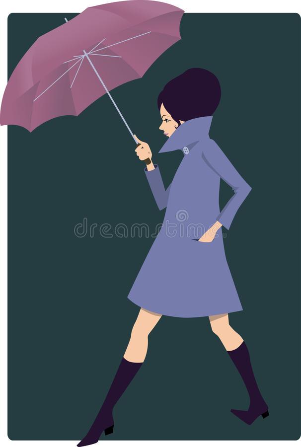 Free Woman With An Umbrella Royalty Free Stock Image - 33598876