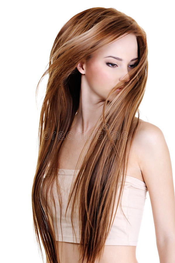 Free Woman With Beauty Long Straight Hairs Stock Photography - 11959962