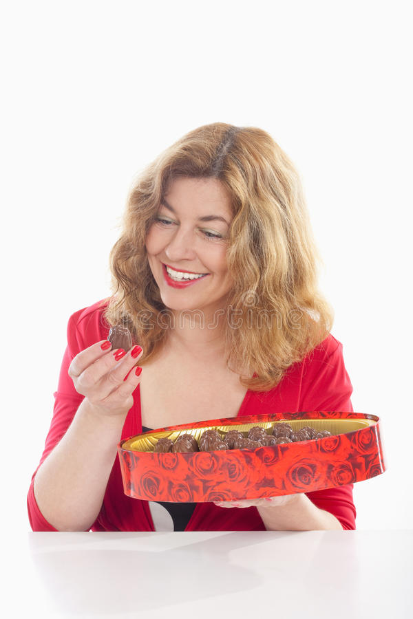 Free Woman With Box Of Chocolate Stock Photography - 14651892