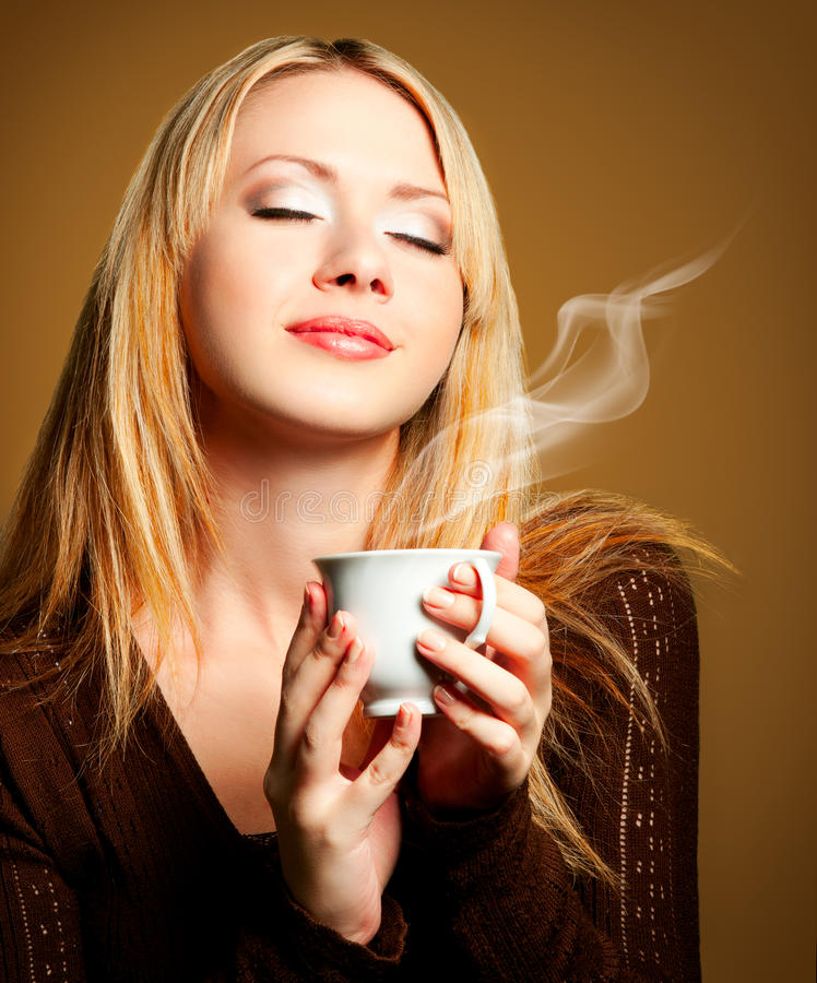 Free Woman With Coffee Stock Photo - 23012790