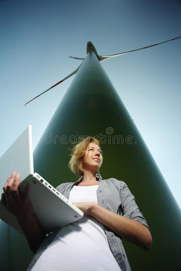 Free Woman With Computer Stock Photography - 12693492