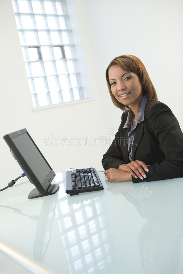 Free Woman With Computer Stock Photos - 5620993