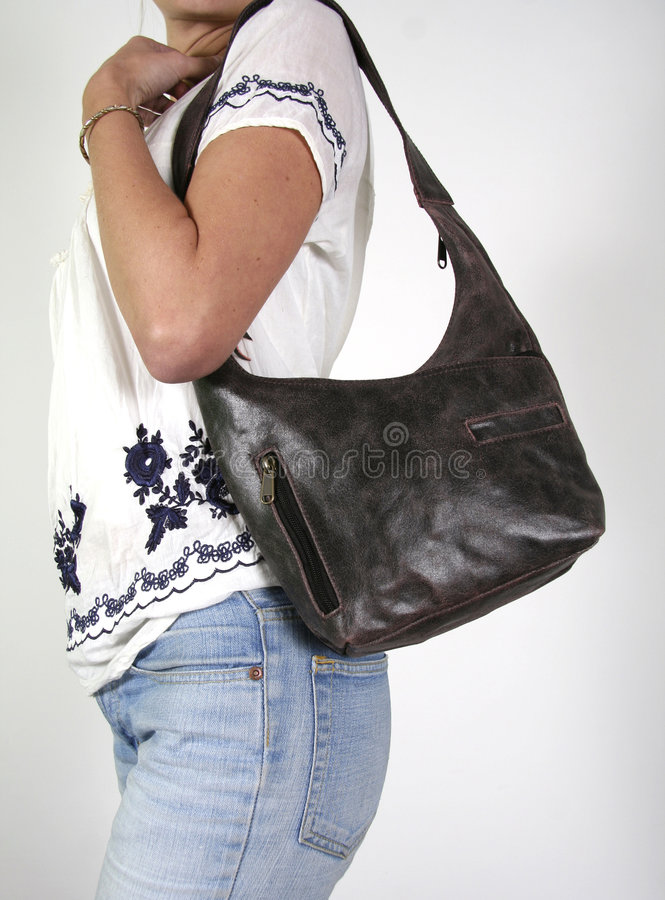Free Woman With Female Hand Bag Royalty Free Stock Image - 3937096