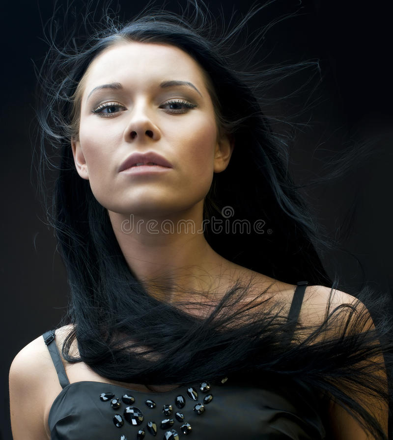 Free Woman With Flying Hair Royalty Free Stock Images - 11914169