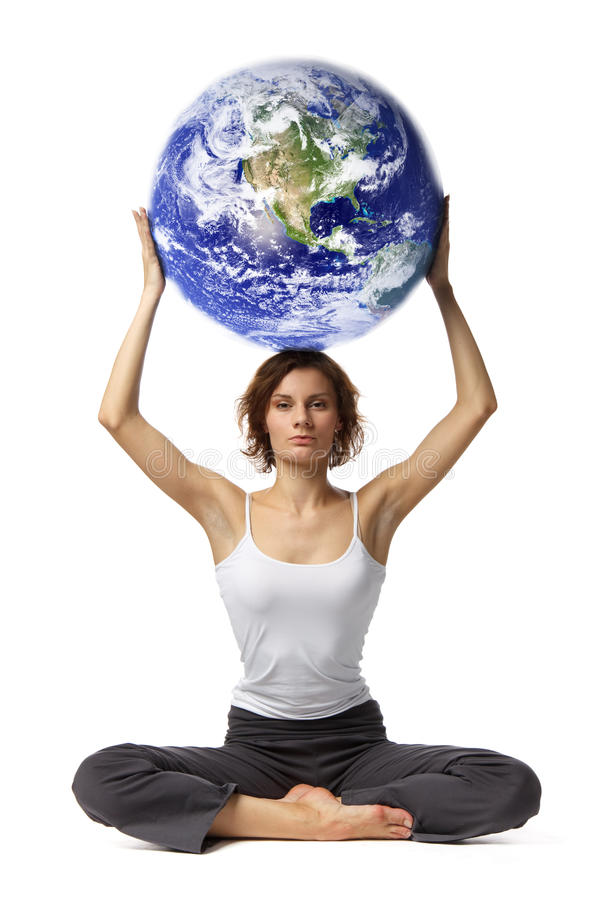 Free Woman With Globe Royalty Free Stock Images - 13150789