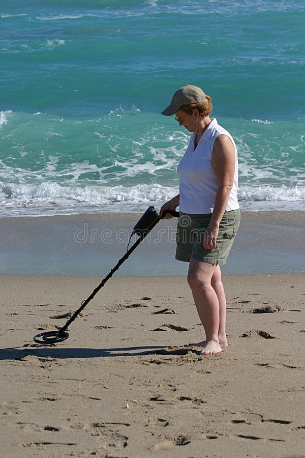 Free Woman With Metal Detector Royalty Free Stock Images - 58429