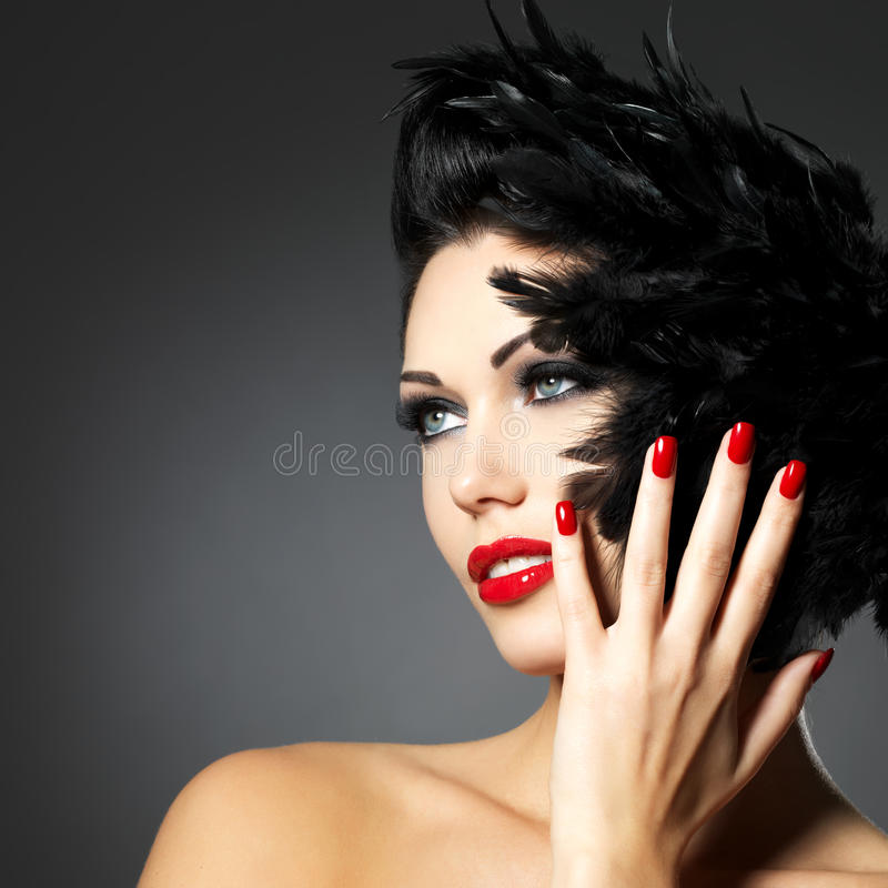 Free Woman With Red Nails And Creative Hairstyle Stock Photos - 27953523