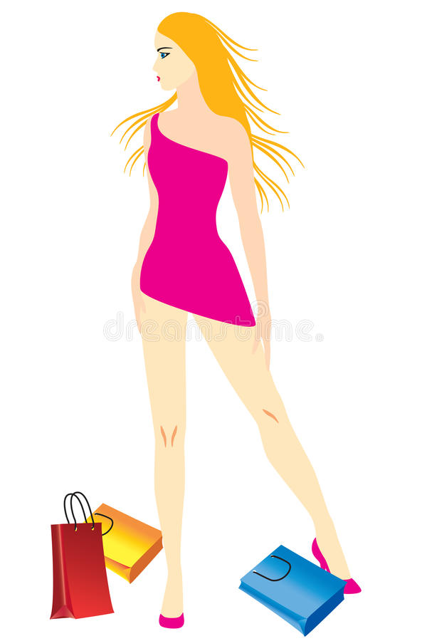 Free Woman With Shopping. Stock Photos - 27885453