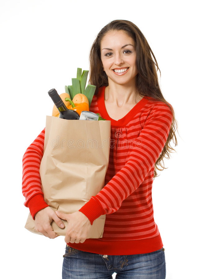 Free Woman With Shopping Bag Royalty Free Stock Photography - 8693597