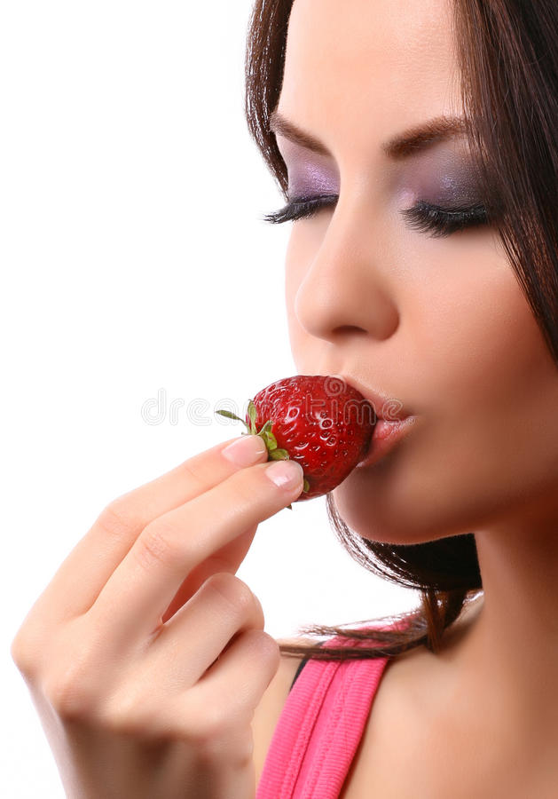 Free Woman With Strawberry Stock Image - 10759761