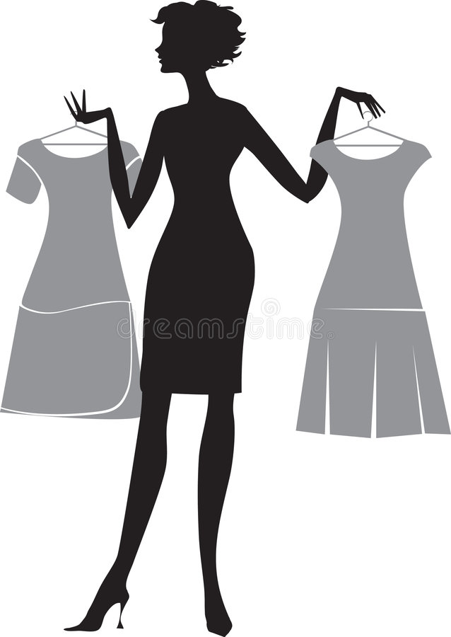 Free Woman With Two Dresses Royalty Free Stock Photo - 8216665