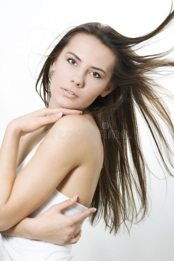 Free Woman With Wind In Hair Royalty Free Stock Photos - 14493878