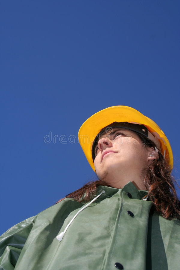Free Woman With Yellow Helmet Royalty Free Stock Images - 785799
