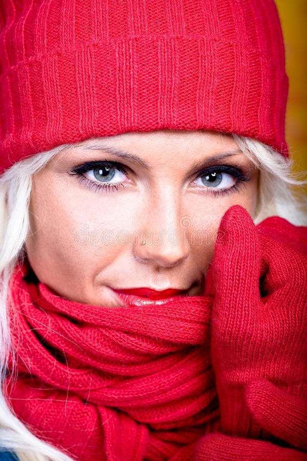 Download Woman With Wool Scarf Stock Images - Image: 12246874