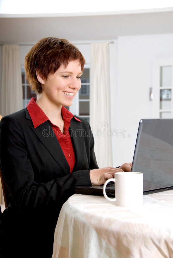 Download Woman at work stock photo. Image of computer, internet - 1742098