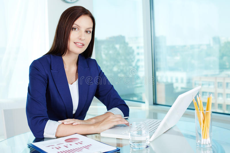 Woman at work stock image