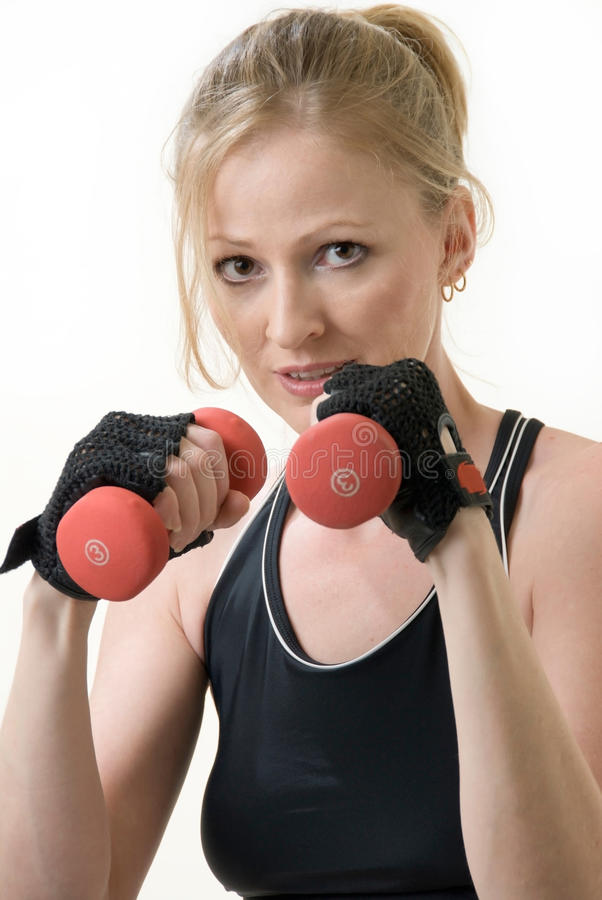Woman work out royalty free stock photos