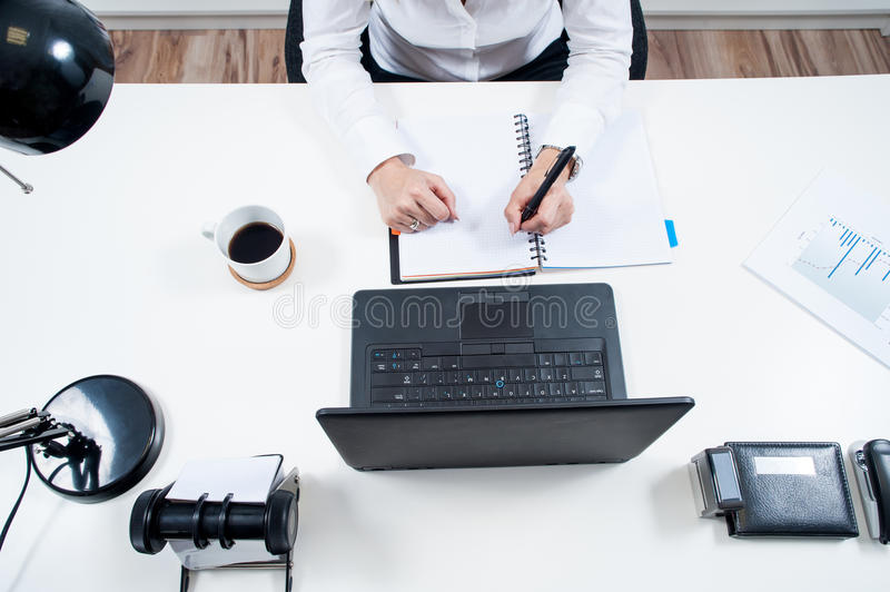 Woman at work stock photography