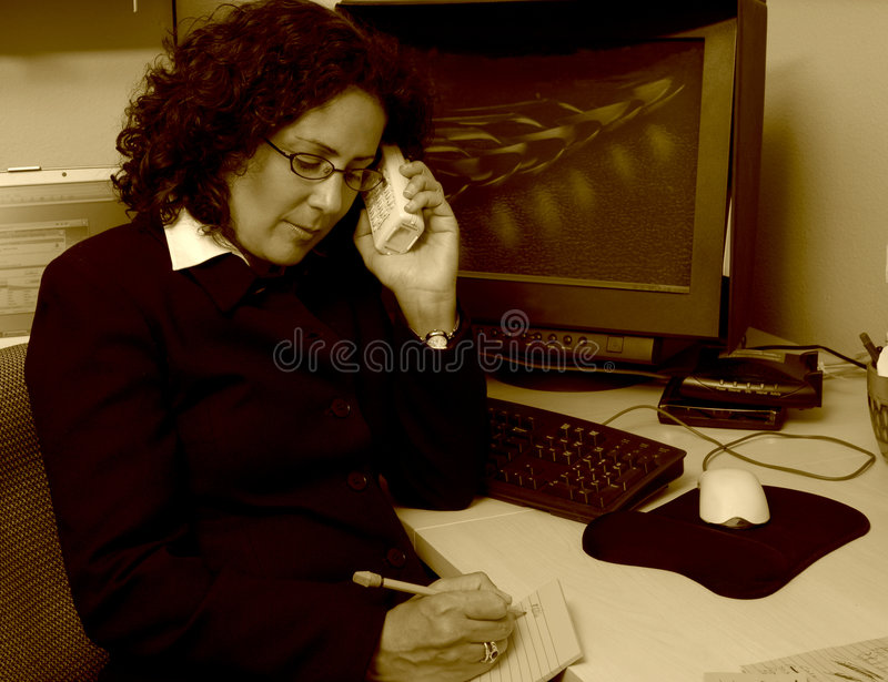 Woman Working stock images