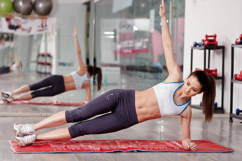 Woman Working Abs Stock Photo