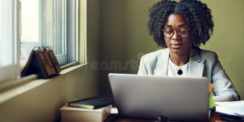 Woman Working Busy Office Concept royalty free stock photography
