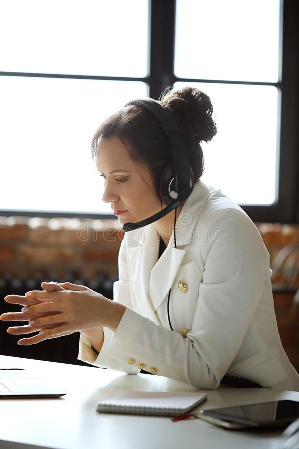 Dispatcher at work royalty free stock photos