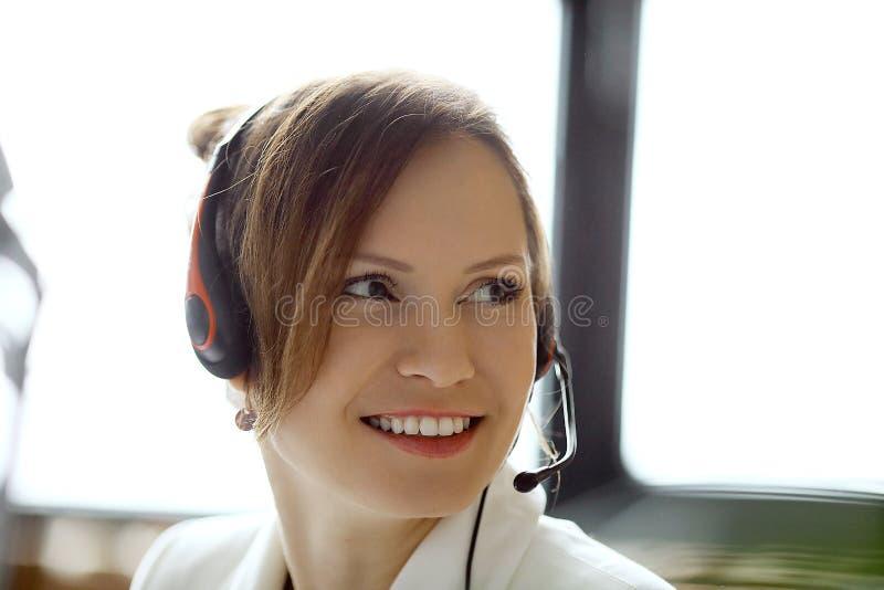 Dispatcher at work stock photo