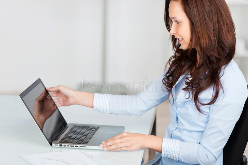 Woman working on her royalty free stock photography
