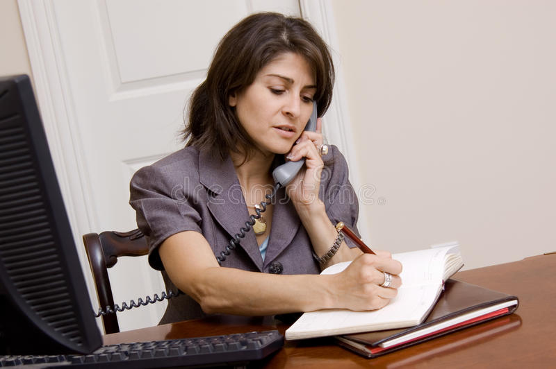 Download Woman Working In Home Office Stock Photo - Image: 23246742
