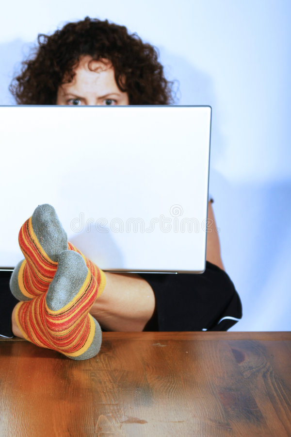 Download Woman working on laptop stock image. Image of compact - 2013491