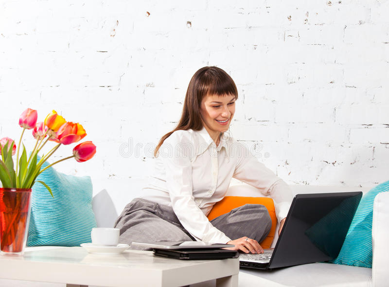 Download Woman Working On A Laptop Stock Images - Image: 27054844