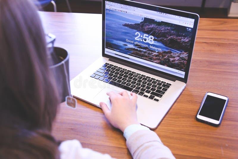 Woman Working On Laptop Free Public Domain Cc0 Image