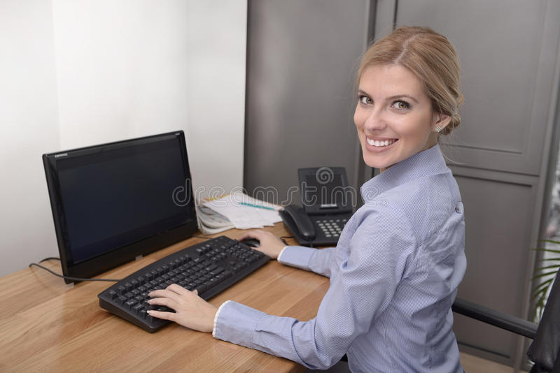 Download Woman working in office stock photo. Image of assistant - 28721294