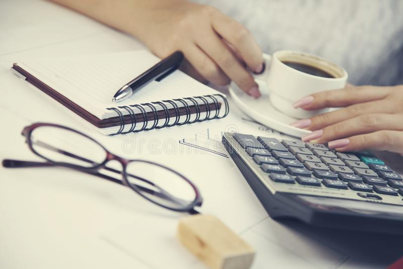 Woman working in office. Business concepts.Woman working in office royalty free stock images