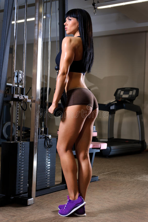 Download Woman Working Out In Fitness Club Stock Image - Image: 25688067