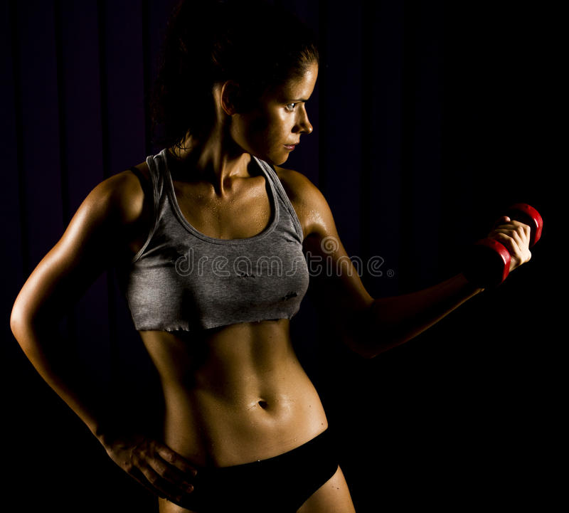Download Fitness Woman Working Out Royalty Free Stock Images - Image: 32666389