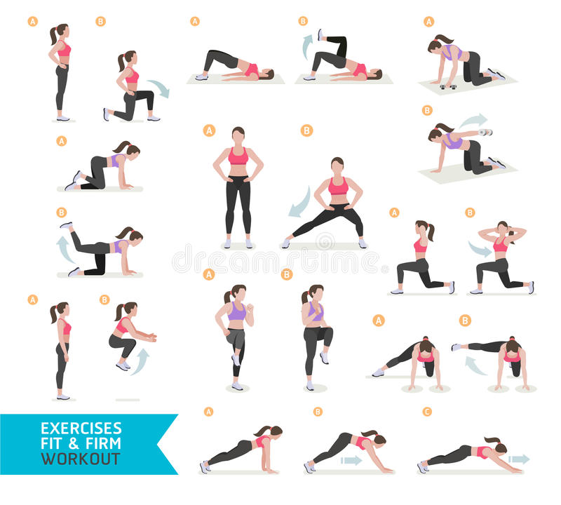 Free Woman Workout Fitness, Aerobic And Exercises. Royalty Free Stock Photography - 78605787