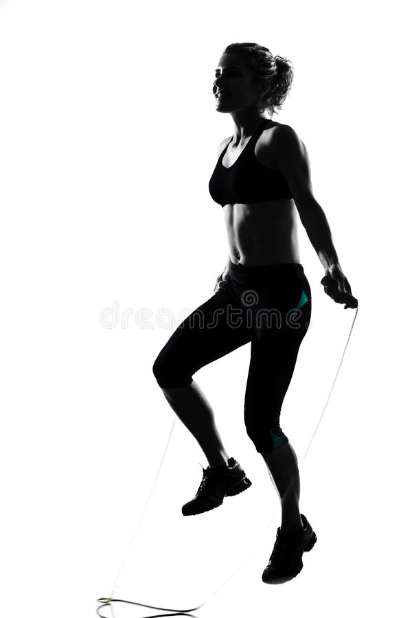Download Woman Workout Fitness Posture Jumping Rope Stock Photo - Image: 25322382