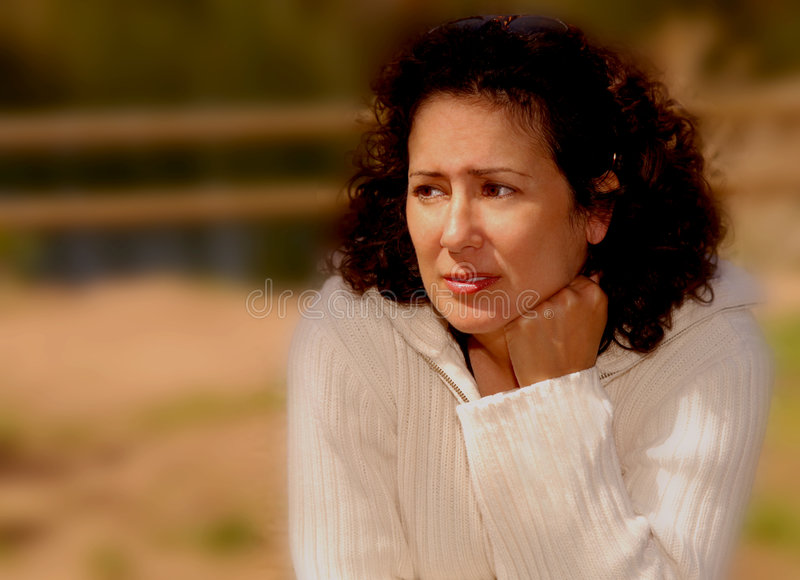 Download Woman With Worry stock photo. Image of thoughtful, graceful - 620944