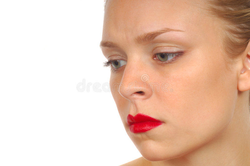 Woman With Worry Royalty Free Stock Photos