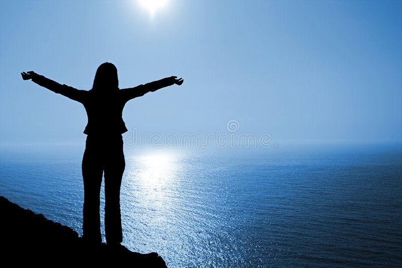 Download Woman In Worship Position Stock Images - Image: 2361074