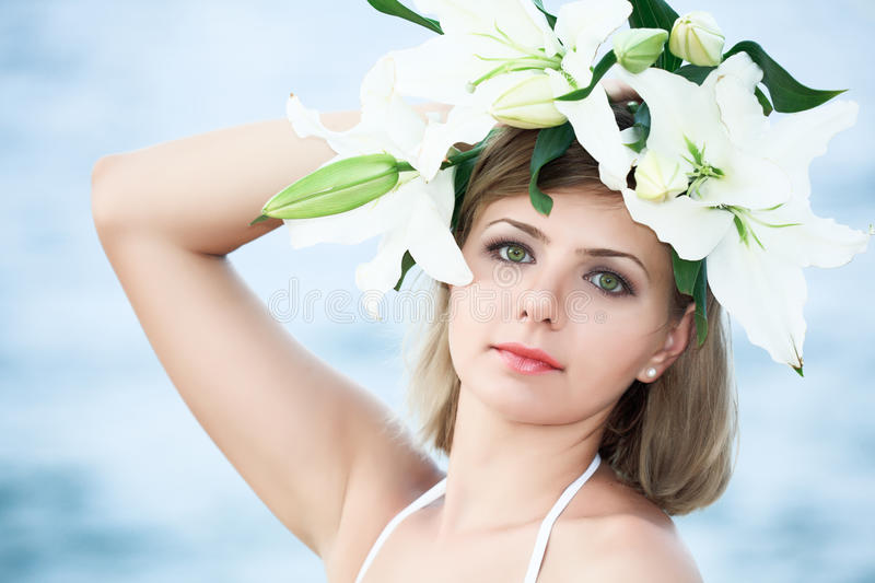 Download Woman In Wreath Stock Photo - Image: 14965810