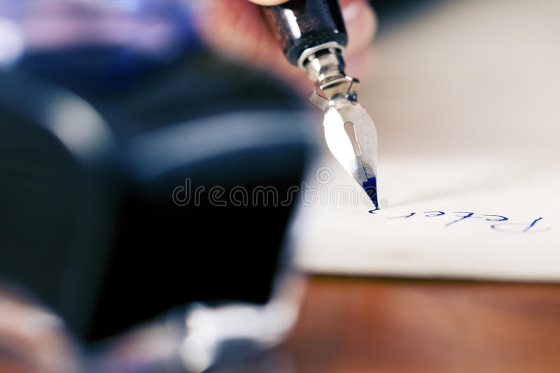 Download Woman writing love letter stock photo. Image of document - 15313796